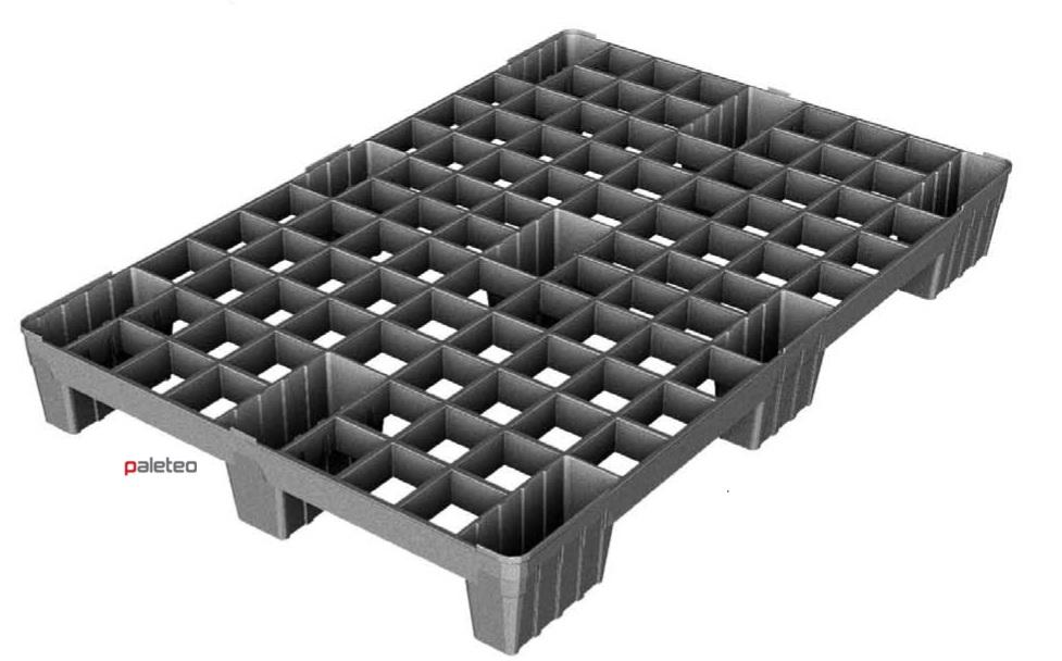 Masywnie PPB2 PALETA PLASTIKOWA 1200x800 - AŻUROWA BEZ PŁÓZ :: Palety OY14